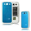for Samsung Galaxy S3 i9300 aluminum replacement back cover-Blue/White