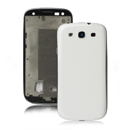for Samsung i9300 Galaxy S iii Faceplates Housing Bezel Cover Replacement OEM - White