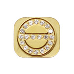 Screw Shaped Rhinestone Home Button Key for iPhone 5 - Gold