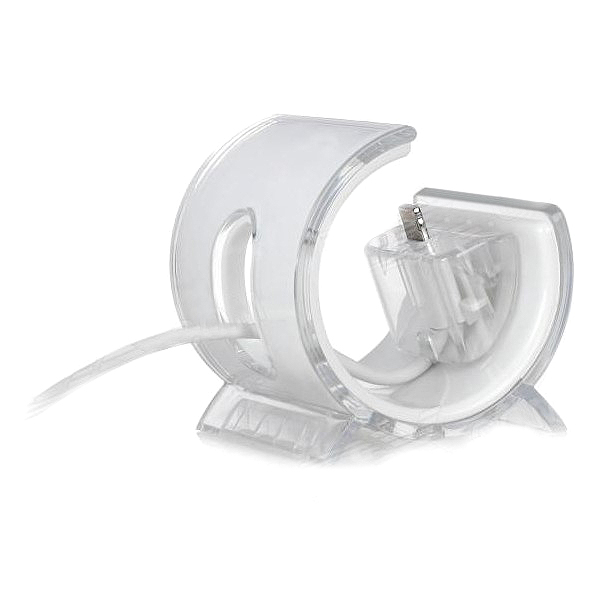 Semi-circle Lightning 8 Pin Data Sync Charger Adapter Dock for iPhone 5 - White