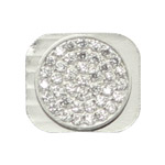 Small White Rhinestones for iPhone 5 Home Button Key Replacement - Silver