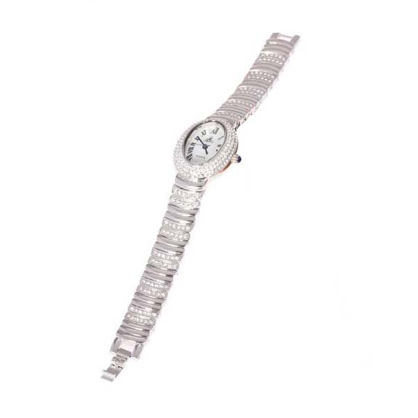 Smays Coffee Zircon Material Crystal Mirror Surface Steel Watchband Fashion Watch for Female