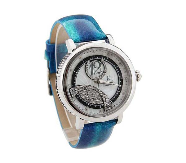 Smays Fashion Women's Watch Japan Movt Quartz Dial Blue Leather Watchband