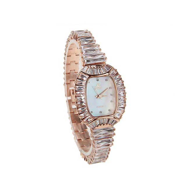 Smays Fashion Women's Watch Japan Movt Quartz Dial Golden Copper Watchband