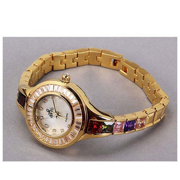 Smays Fashion Women's Watch Japan Movt Quartz Dial Champagne Copper Watchband