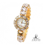 Smays Fashion Women\'s Watch Japan Movt Quartz Dial Golden Copper Watchband