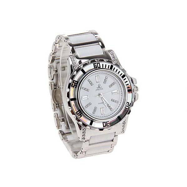 Smays Fashion Women's Watch Japan Movt Quartz Dial White and Silver Watchband