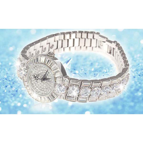 Smays Silver Zircon Material Crystal Mirror Surface Steel Watchband Fashion Watch for Female
