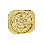Sparkling Sun Shaped Rhinestone Home Button Key for iPhone 5 - Gold