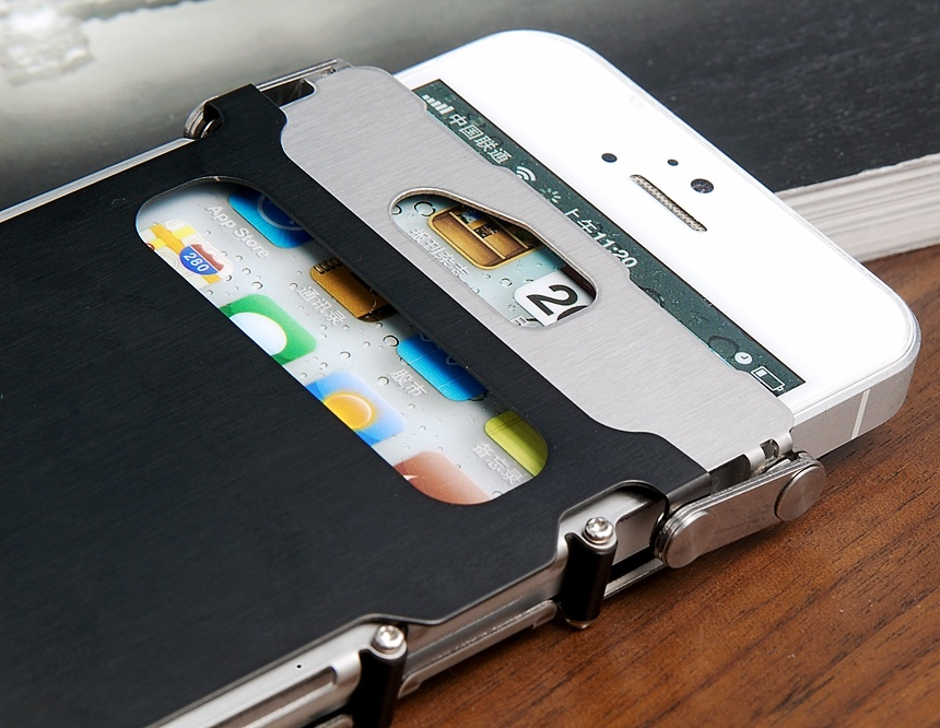 Stainless Steel Metal Frame Bumper Case for iPhone 5