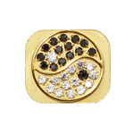 The Eight Diagrams Rhinestone Home Button Key for iPhone 5 - Gold