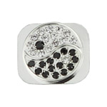 The Eight Diagrams Rhinestone Home Button Key for iPhone 5 - Silver