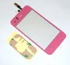 Touch Glass Digitizer+Home Button for Iphone 3GS - Pink