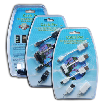 USB Cable Kit for iPhone iPod Nokia BlackBerry HTC etc