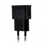USB Power Adapter Charger for Samsung Phones - EU Plug (Black)