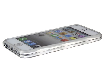 Ultra-Thin Design Metal Protective Frame for iPhone 5 -Silver