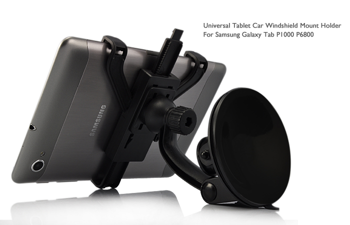 Universal Tablet Car Windshield Mount Holder for Samsung Galaxy Tab P1000 P6800