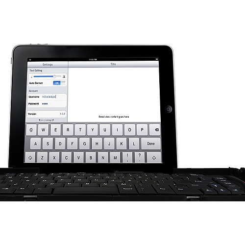 VKA Collapsible for iPhone/Android Bluetooth QWERTY Keyboard (4 Section Fold)