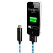 Visible Green Cable For iPad/for iPhone/iPod (White Charge &Sync Cable with Blue Visible G)