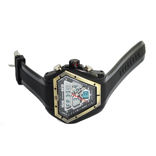 Fashion Special Design CHM SPL ALM 50M Waterproof Dual Time Analog Digital Sport Watch