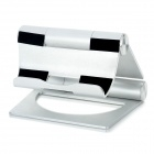 Aluminum Alloy Multi-Angle 3-Fold Holder Stand for iPad + More - Silver