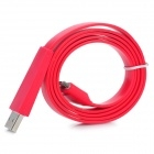Flat Design USB Sync / Charging Cable for iPhone 4 4S iPad iPad2 The New iPad - Red