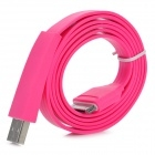 Flat Design USB Sync/Charging Cable for iPhone 4/4S/ iPad / iPad 2 / The New iPad - Deep Pin