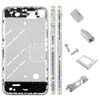 for iPhone 4G Middle Plate - Silver-white + Black