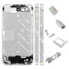 for iPhone 4S Middle Plate - Silver + Diamond