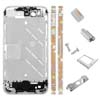 for iPhone 4S Middle Plate - Silver-Orange + Multi-Diamond