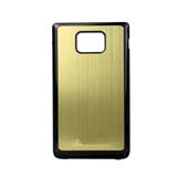 i9100 Brushed Back Cover with Side Black Edge for Samsung -Coppery