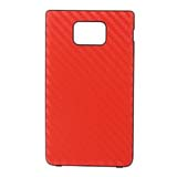 i9100 Carbon Fiber Leather Cover -Red