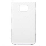 i9100 Carbon Fiber Leather Cover -White