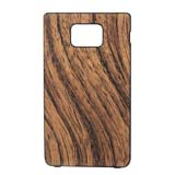 i9100 Wooden Design Leather Cover -Soil color