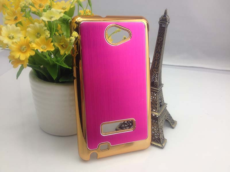 Brush Aluminum Hard Case for Samsung Galaxy Note i9220 - Magenta