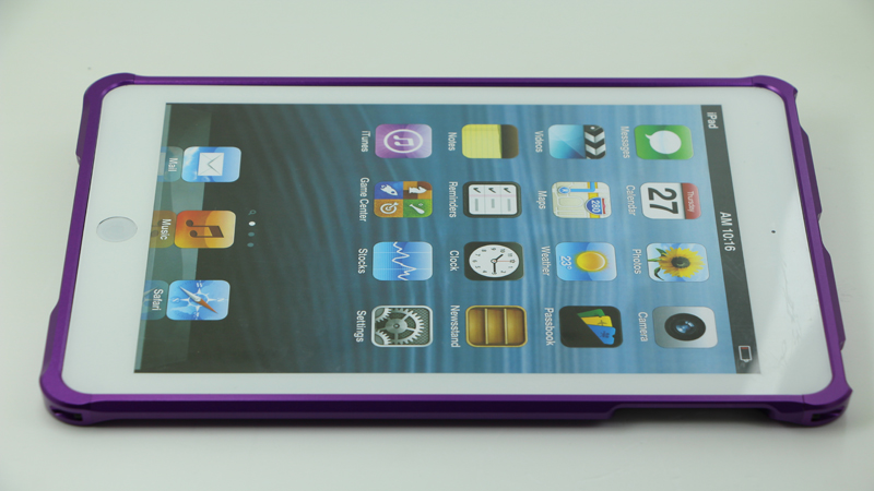 iPad Mini Purple Color Collocation Aluminum Metal bumper case9 - Screw Up by Screws
