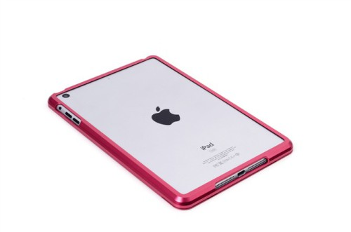 iPad Mini Aluminum Metal bumper case -Red
