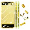 for iPhone 4S Black Diamond Middle Plate board Faceplates 24K Gold