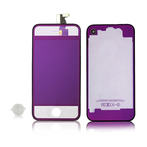 for iPhone 4 CDMA Conversion Kits - Plated Mirror Transparent
