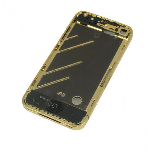 for iPhone 4 Middle Frame board full complete assembly Golden