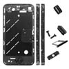 for iPhone 4S Middle Plate + Diamond Stone Housing Kit - Black Floor + Black Buttons