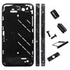 for iPhone 4S Black Middle Plate w/ Black Diamond Stone Housing Kit