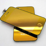 for iPhone 4S Conversion Kit - Electroplated Mirror Full Orange