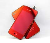 for iPhone 4S Conversion Kit -Plated Mirror Full Red