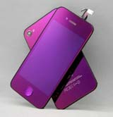 for iPhone 4S Conversion Kit -Plated Mirror Purple