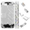 for iPhone 4S Middle Plate - Silver +Black triangle