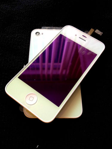 for iPhone 4S Plating Chrome Conversion kit - White