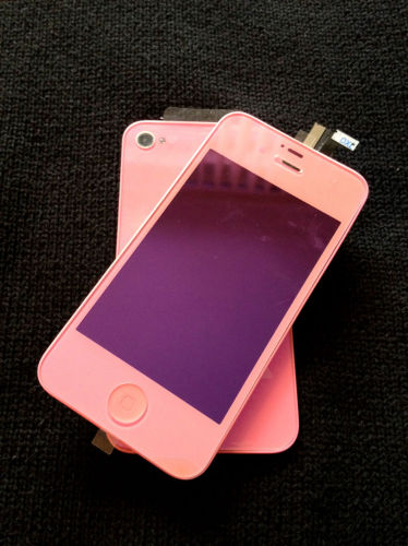 for iPhone 4S Plating Pink Conversion kit