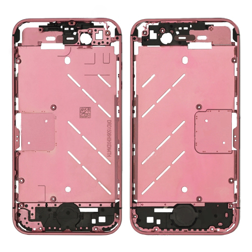 for iPhone 4s Metal Midframe Middle Frame Board - Plated Pink