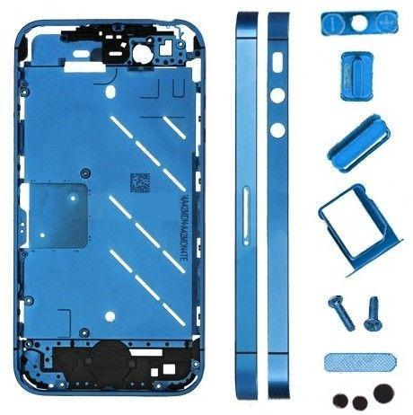for iPhone 4s Housing Metal Midframe Middle frame board - Plated Blue
